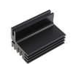 Chladič lisovaný TO220 černá L:50mm W:30mm H:28mm 8K/W