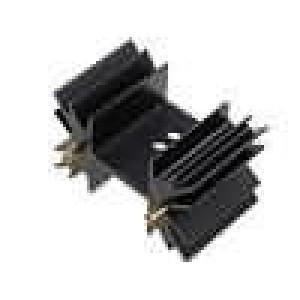 Chladič lisovaný SOT32,TO220,TO3P černá L:25,4mm 7,8K/W