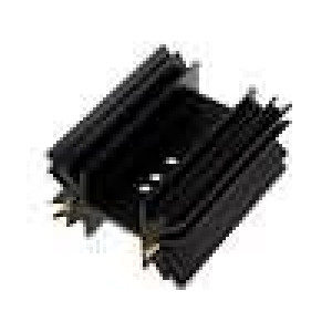 Chladič lisovaný SOT32,TO220,TO3P černá L:50,8mm 5,3K/W