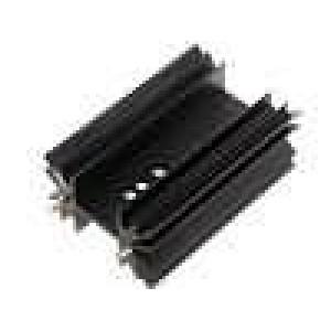 Chladič lisovaný SOT32,TO220,TO3P černá L:63,5mm 4,5K/W