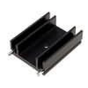 Chladič lisovaný TO220 L:37,5mm W:29mm H:12mm 8,5K/W
