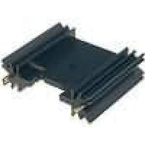 Chladič lisovaný TO220,TO3P černá L:38,1mm W:45mm H:12,7mm