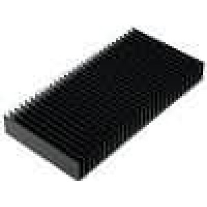 Chladič lisovaný žebrovaný černá L:100mm W:200mm H:25mm