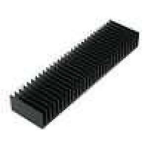Chladič lisovaný žebrovaný černá L:50mm W:200mm H:25mm