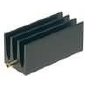 Chladič lisovaný žebrovaný TO220 černá L:35mm W:16mm H:16mm