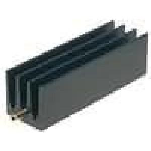 Chladič lisovaný žebrovaný TO220 černá L:50mm W:16mm H:16mm