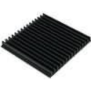 Chladič lisovaný žebrovaný černá L:150mm W:159mm H:15mm