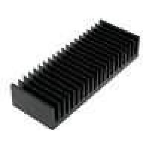 Chladič lisovaný žebrovaný černá L:75mm W:200mm H:40mm