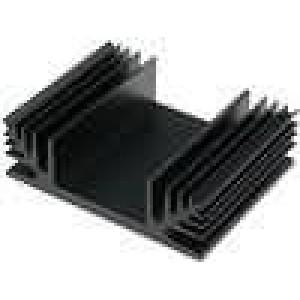 Chladič lisovaný TO3 černá L:50mm W:65mm H:20mm 2,9K/W