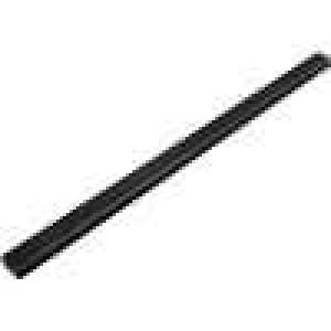 Chladič lisovaný černá L:1000mm W:30mm H:45mm hliník