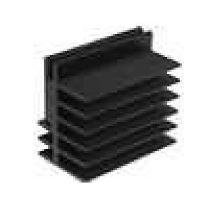 Chladič lisovaný černá L:50mm W:30mm H:45mm hliník eloxovaný