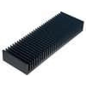 Chladič lisovaný žebrovaný černá L:100mm W:300mm H:40mm