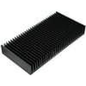 Chladič lisovaný žebrovaný černá L:150mm W:300mm H:40mm