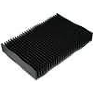 Chladič lisovaný žebrovaný černá L:200mm W:300mm H:40mm