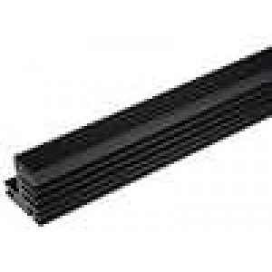 Chladič lisovaný TO220 černá L:1000mm W:30mm H:31mm 4,4K/W