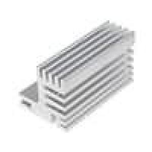Chladič lisovaný TO220 přírodní L:50mm W:30mm H:31mm 7,8K/W