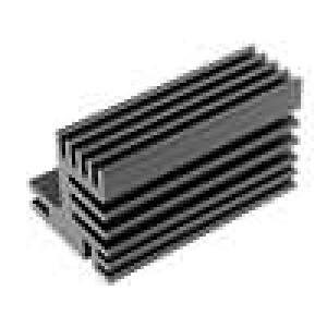 Chladič lisovaný TO220 černá L:50mm W:30mm H:31mm 7,8K/W