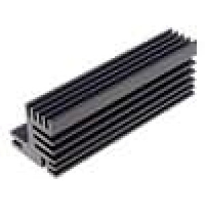 Chladič lisovaný TO220 černá L:84mm W:30mm H:31mm 5,5K/W