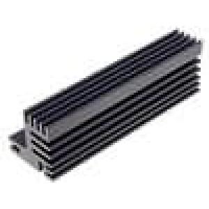 Chladič lisovaný TO220 černá L:94mm W:30mm H:31mm 5,1K/W