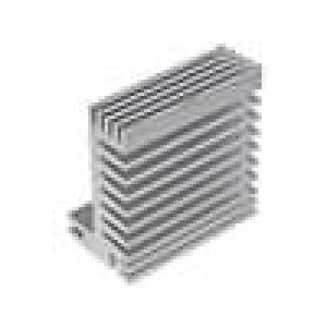 Chladič lisovaný TO220 přírodní L:50mm W:55mm H:31mm 5,8K/W