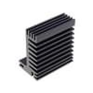 Chladič lisovaný TO220 černá L:50mm W:55mm H:31mm 5,8K/W