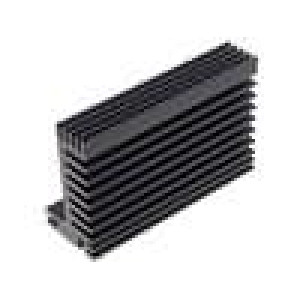 Chladič lisovaný TO220 černá L:84mm W:55mm H:31mm 5K/W