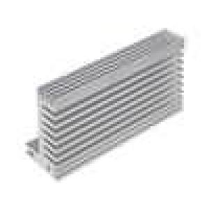 Chladič lisovaný TO220 přírodní L:94mm W:55mm H:31mm 2,9K/W