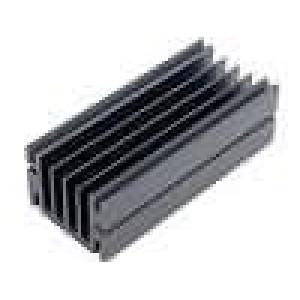 Chladič lisovaný TO220 černá L:100mm W:46mm H:33mm hliník