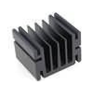 Chladič lisovaný TO220 černá L:37,5mm W:46mm H:33mm hliník