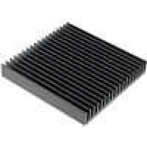 Chladič lisovaný žebrovaný černá L:100mm W:100mm H:15mm