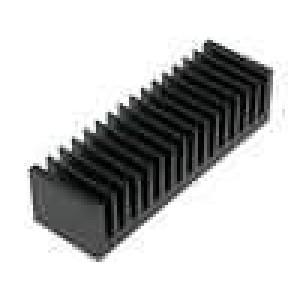 Chladič lisovaný žebrovaný černá L:50mm W:160mm H:40mm