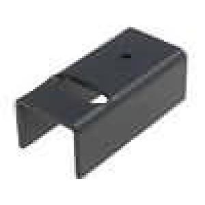 Chladič lisovaný U TO220 černá 17K/W hliník eloxovaný