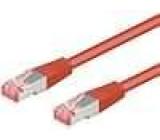 Síťový kabel S/FTP 6 propojení 1:1 licna Cu LSZH červená 0,5m