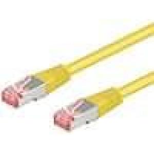 Síťový kabel S/FTP 6a propojení 1:1 licna Cu LSZH   0,5m
