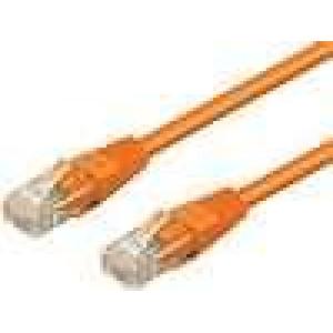Síťový kabel U/UTP 6 propojení 1:1 licna CCA PVC oranžová 15m