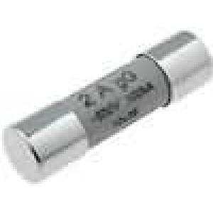 Pojistka tavná gG keramická, průmyslová 2A 500VAC 10x38mm