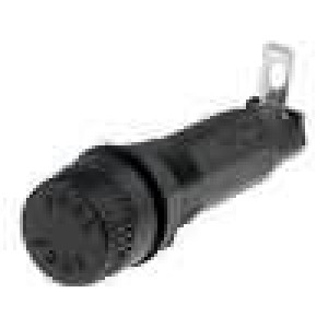 Pouzdro trubičkové pojistky 6,3x32mm 10A 250V -40-85°C