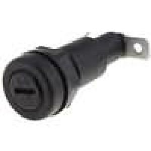 Pouzdro trubičkové pojistky 5x20mm 10A 250V