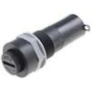 Pouzdro trubičkové pojistky 5x20mm 10A do panelu 5mΩ
