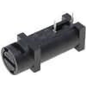 Pouzdro trubičkové pojistky Montáž horizontální 5x20mm 10A