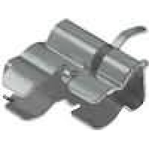 Montážní držáky trubičkové pojistky montáž THT rozteč 5mm