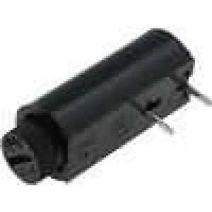 Pouzdro trubičkové pojistky Montáž horizontální 5x20mm 6A