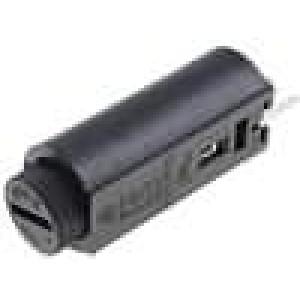 Pouzdro trubičkové pojistky do PCB 5x20mm -30-85°C 10A