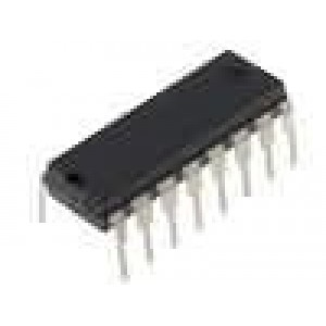 4522 IC číslicový BCD, counter, divide by N 4bit CMOS DIP16