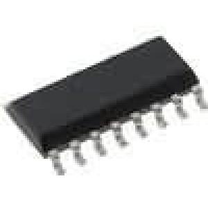 CD74HC4511M IC číslicový BCD to 7 segment, decoder, driver, latch SO16