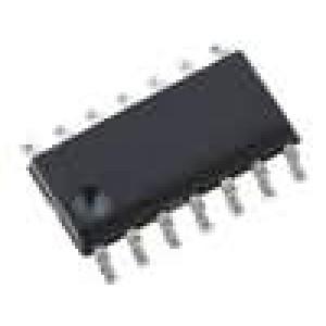 HEF40106BT IC číslicový Schmitt trigger, inverting 6 kanálů CMOS SO14