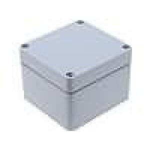 Krabička univerzální ALUEIN X:75mm Y:80mm Z:57mm hliník šedá