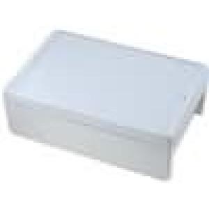 Krabička univerzální BOCUBE X:271mm Y:271mm Z:90mm ABS šedá