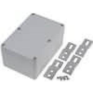 Krabička univerzální X:80mm Y:120mm Z:55mm hliník šedá IP65