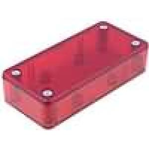 Krabička univerzální X:45mm Y:95mm Z:23mm ABS červená